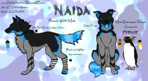 Naida Ref Sheet Revamp Commission by DeliriouStudios