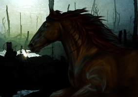 War Horse by Down-a-Rabbit-Hole