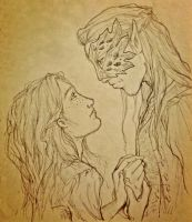 Feyre and Tamlin by zendalla8