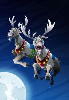 Reindeer by Snakieball