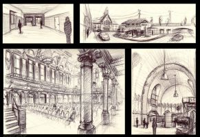 trainstation and cityhall by LoccoRico