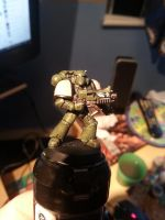 Tactical Space Marine of the Dire Strikes by Aaramus