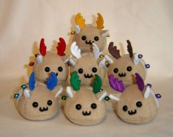 Lots of Puggle Reindeer by callykarishokka