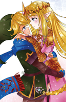 [F] Link and Zelda by AngelDranger
