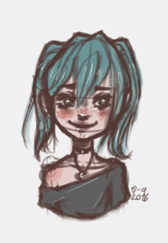 Lilah-Quick sketch by xWhiteOakx