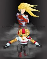 Samus X Fox McCloud by lbenologa