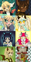 Toyhou.se Icons Part 1 by moonsona