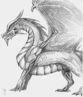 Simple dragon sketch by MishaART