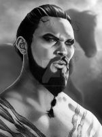 Khal Drogo Finished Print by corysmithart