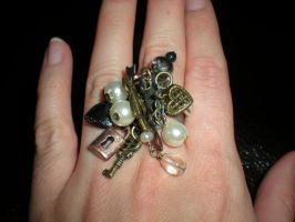 Steampunk Style Charm Ring by Oriana-X-Myst