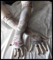 Evening Lotus Arm Warmers by ZenAndCoffee