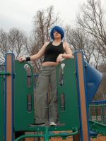 Queen of the Jungle Gym by SkullsAndStripes