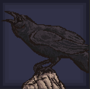 Pixel Crow by ReshiANW