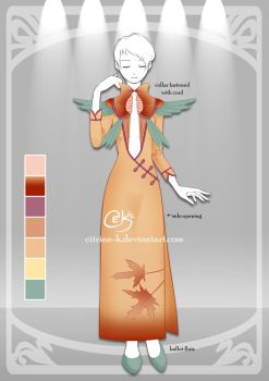 (OPEN) Oriental Birds: Adoptable Outfit #1 by Citrine-K