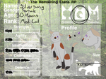 The Remaining Clans Character Sheet by cantbreath45