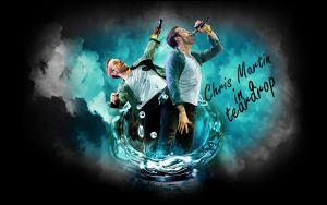 Chris Martin In A Teardrop by SliderGirl