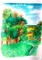 #125 Watercolor Scenery by Doodle-of-the-day