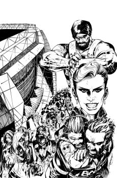 Dead Rising #4 Cover by scabrouspencil