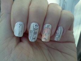 Comic Nails by Crowmistress