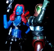 Mystique and Zartan by lovefistfury