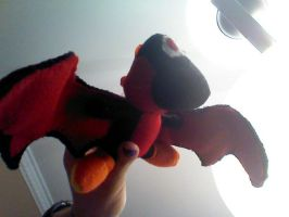 Winged black and red yoshi by RandomGirlRandomVids