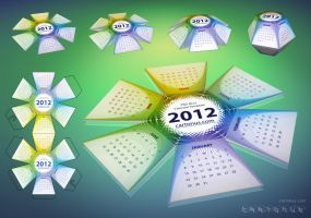 2012 Calendar Hexahedral PSD by cartonus