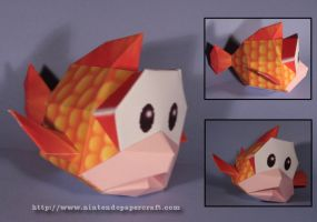 CheepCheep Papercraft by Drummyralf