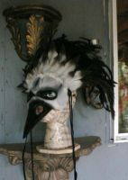 Death of birds, leather mask by faerywhere