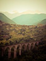 Viaduct in Italy by slcrawford