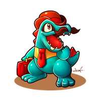 Chief Totodile!~ by CHOBI-PHO