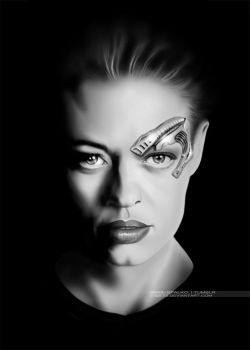 Seven of Nine portrait by G672