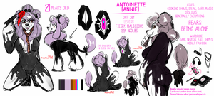 Antoinette Reference Sheet [2017] by ValentineHearts