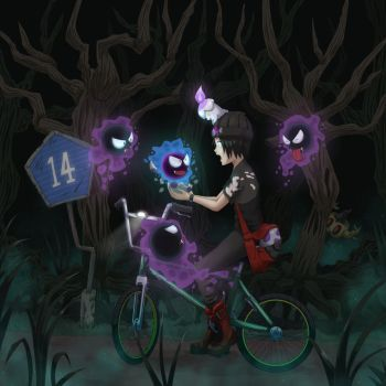 Shiny Gastly by The-Blue-Wind