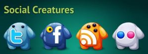 Social Creatures Icons by JordiArt