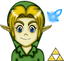 Ocarina Of Time Child Link by ZeldaGirl88