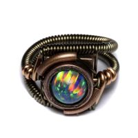 steampunk ring Lab Opal 1 by CatherinetteRings
