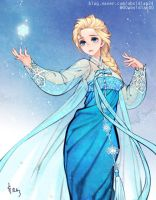 Elsa - Korean traditional dress (Hanbok) by theobsidian