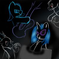 Discord im howling at the moon by AzulaGriffon