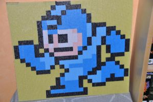 Mega Man sprite photopearls by Ryuma5580
