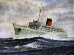 Caronia, Cunard Line-winter N Atlantic by umhlali