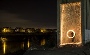 Steel Wool Spinning #3 by GregFisher