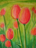 Red Tulips by YamPuff