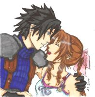 Zack X Aerith:Her Beautifull Smile by ClaireRoses
