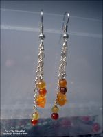 Carnelian Cascade Earrings by echosea
