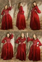 red dress set 3 by magikstock