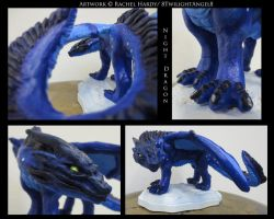 Night Dragon Sculpture by 8TwilightAngel8
