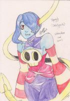 Skullgirls - Squigly (watercolour with pencil) by L4154