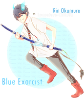 Ao no Exorcist- Rin by Immature-Child02