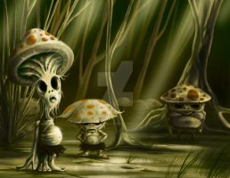Mushroom-creature-color-flatweb by Sketchytrav