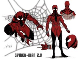 Spiderman redesign 2.0 by mdavidct